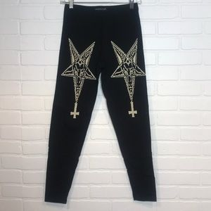 Actual Pain leggings baphomet pentagram M/L.
